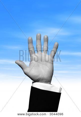 Blue Sky Hand