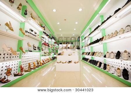 women's & men's shoes in a store