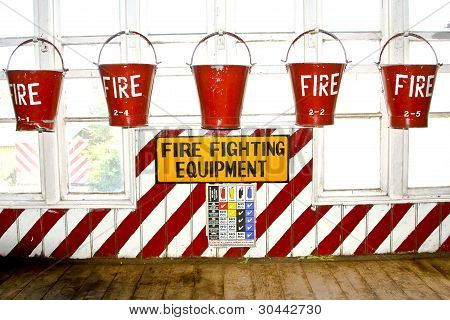 Bucket With Sand  For Fire Fighting