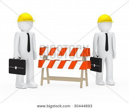 Businessmen Barrier