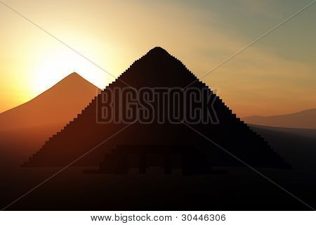 Mystique Egyptian Pyramid 3D render