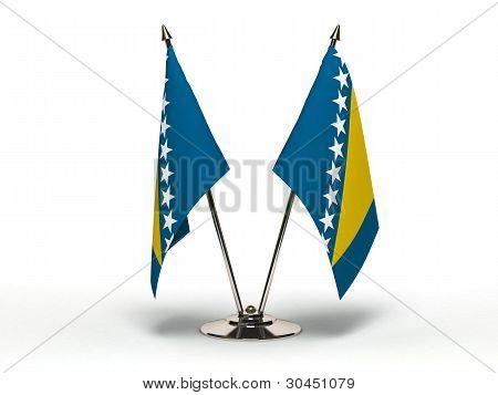 Miniature Flag Of Bosnia And Hercegovina (isolated)