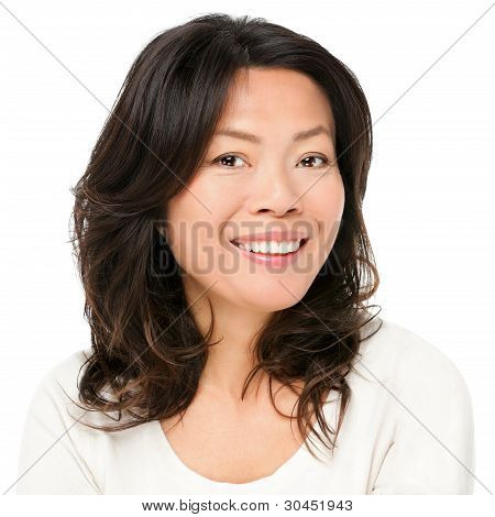 Asian Woman Smiling Happy