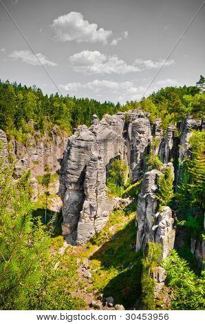 Cesky raj sandstone cliffs - Prachovske skaly, Czech Republic