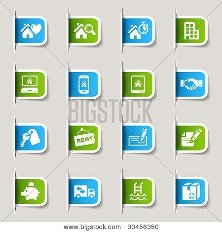 Etiqueta - ícones de imóveis