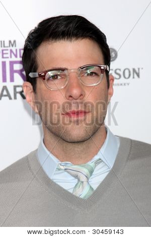 LOS ANGELES - FEB 25:  Zachary Quinto arrives at the 2012 Film Independent Spirit Awards at the Beach on February 25, 2012 in Santa Monica, CA