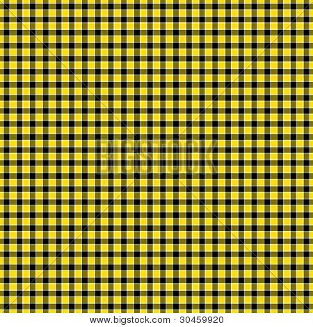 Black, Yellow & White Checked Plaid