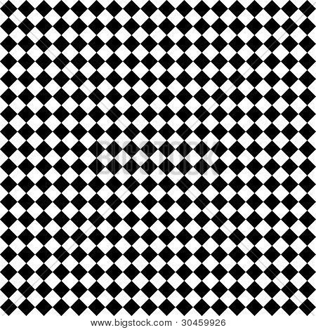 Black & White Diamond Checks