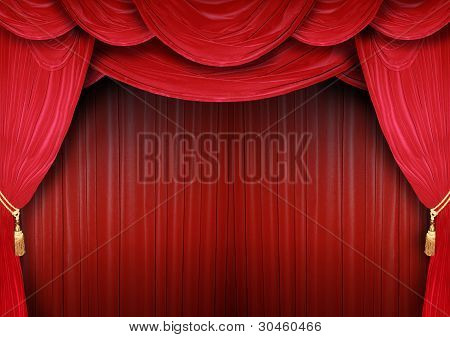 Opera House With Elegant Curtains