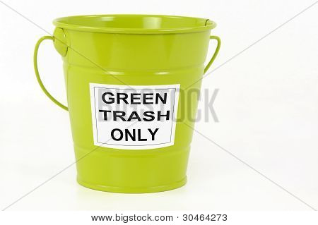 Green trash bin