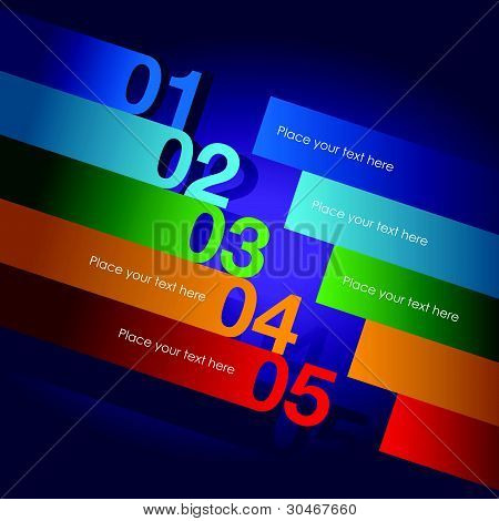 a abstract number line background