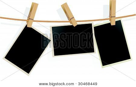 Three Photo Frames on Rope