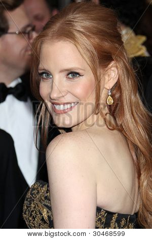 LOS ANGELES - FEB 26:  Jessica Chastain arrives at the 84th Academy Awards at the Hollywood & Highland Center on February 26, 2012 in Los Angeles, CA.