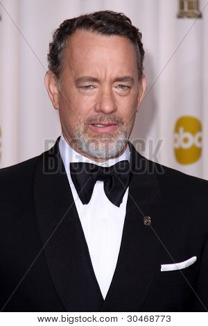 LOS ANGELES - FEB 26:  Tom Hanks arrives at the 84th Academy Awards at the Hollywood & Highland Center on February 26, 2012 in Los Angeles, CA.