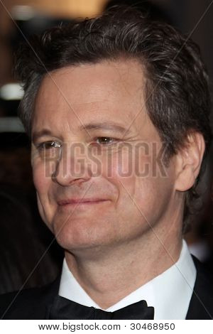 LOS ANGELES - FEB 26:  Colin Firth arrives at the 84th Academy Awards at the Hollywood & Highland Center on February 26, 2012 in Los Angeles, CA.