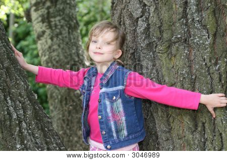 Young Girl Among Trees