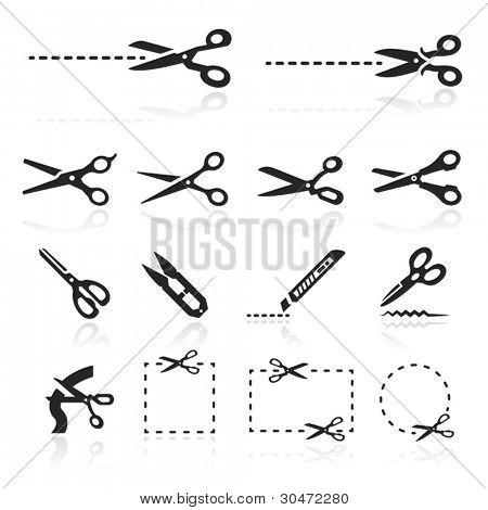 Scissors Icons set