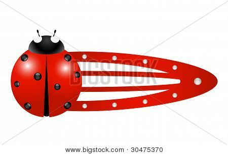 Hair clip - Ladybug