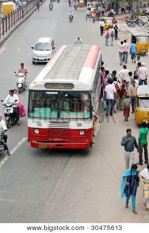 Indian street scene-Public transport