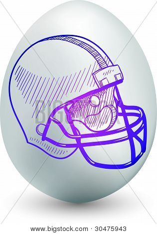 Football helmet egg