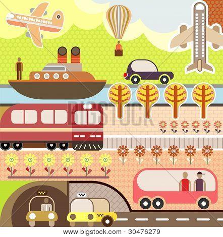 Landscape - Tourism And Travel Illustration