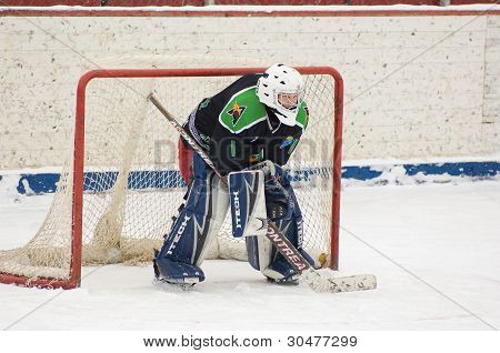 Goaltender Of Team Avangard Podolsk