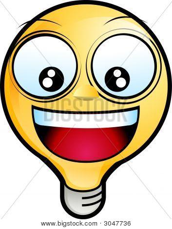 Lighting Bulb Icon - Laughing