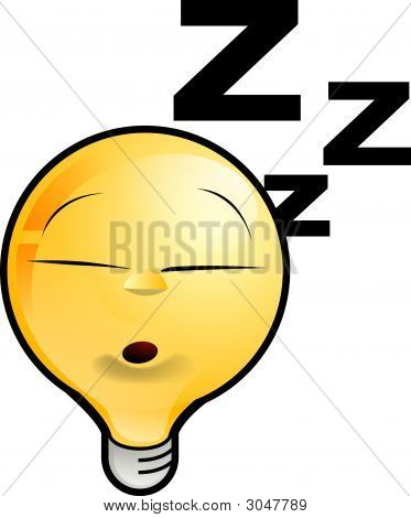 Lighting Bulb Icon - Sleeping