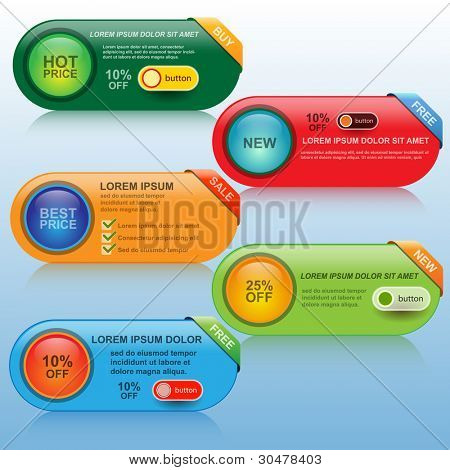 Design Banner set, vector