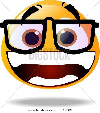 Smiley Icon - Geek