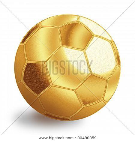 Golden Football Ball