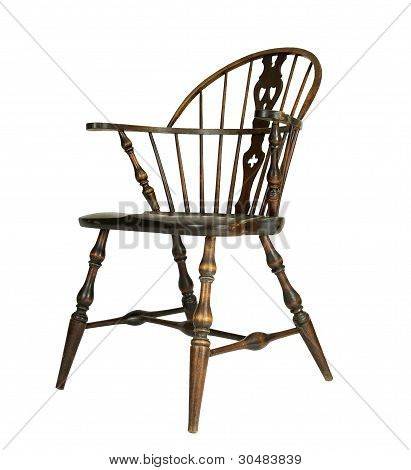 side view of vintage chair