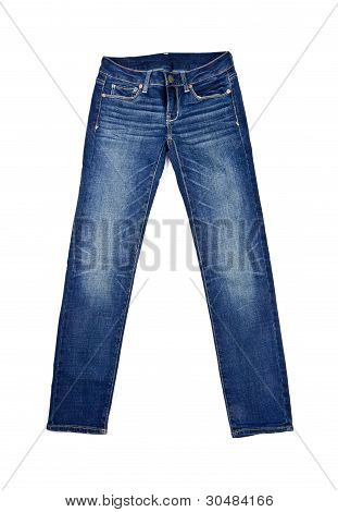 Blue Jeans Isolated on White