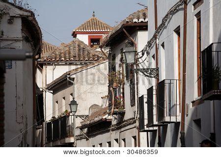 Typical Street In Granada Spain