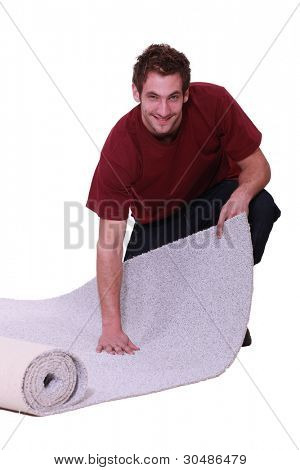 Unrolling a carpet