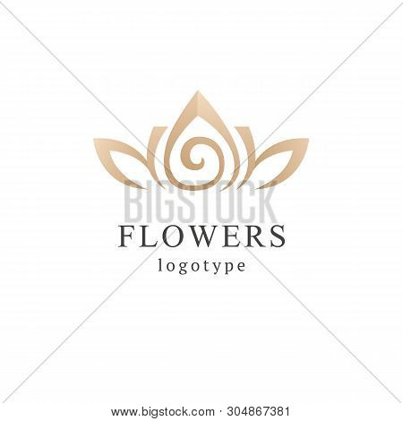 poster of Abstract Flower Store Logo Icon Vector Design. Cosmetics, Spa, Beauty Salon Decoration Boutique Vect