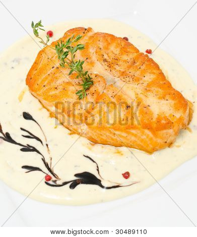 Salmon With Cheese Sauce