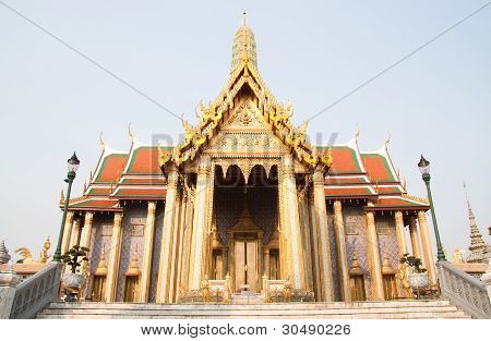 Thai Temple In Grand Palace, Bangkok, Thailand
