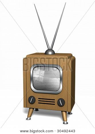 Classic Wooden Tv.