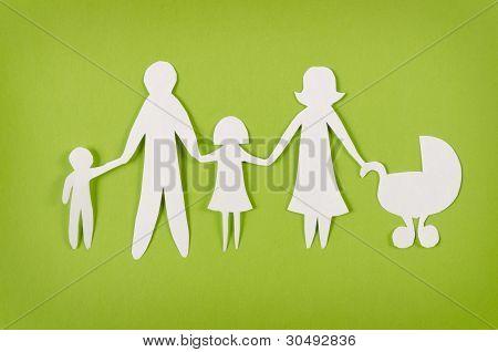 Happy Paper Family