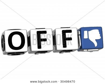 3D Off Hand Button Cube Text