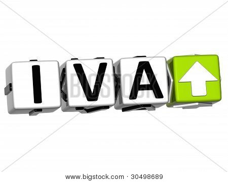 3D Iva Button Block Cube Text