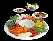 image of crudites  - Selection of appetizers - JPG