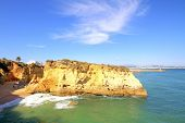 Rocky southcoast near Lagos in Portugal