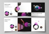 Vector Layout Of Square Format Covers Design Templates For Trifold Brochure, Flyer. Simple Design Fu poster