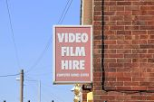 Video Film Hire Sign