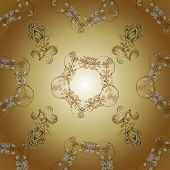 Traditional Orient Ornament. Classic Vector Golden Seamless Pattern. Classic Vintage Background. Sea poster