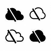 Cloud Set. Cloud Icon. Off Line Icon, Cloud Icon Art. Cloud Icon Picture. Cloud Icon Image. Cloud Ic poster
