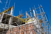 stock photo of trussle  - Construction of a new building - JPG
