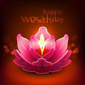 pic of wesak day  - Vector Lotus Oil Lamp - JPG